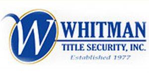 Whitman Title Logo